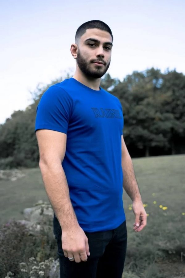 Mens-basic-organic-royal-blue-tshirt