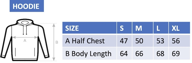 Woman's hoodie size